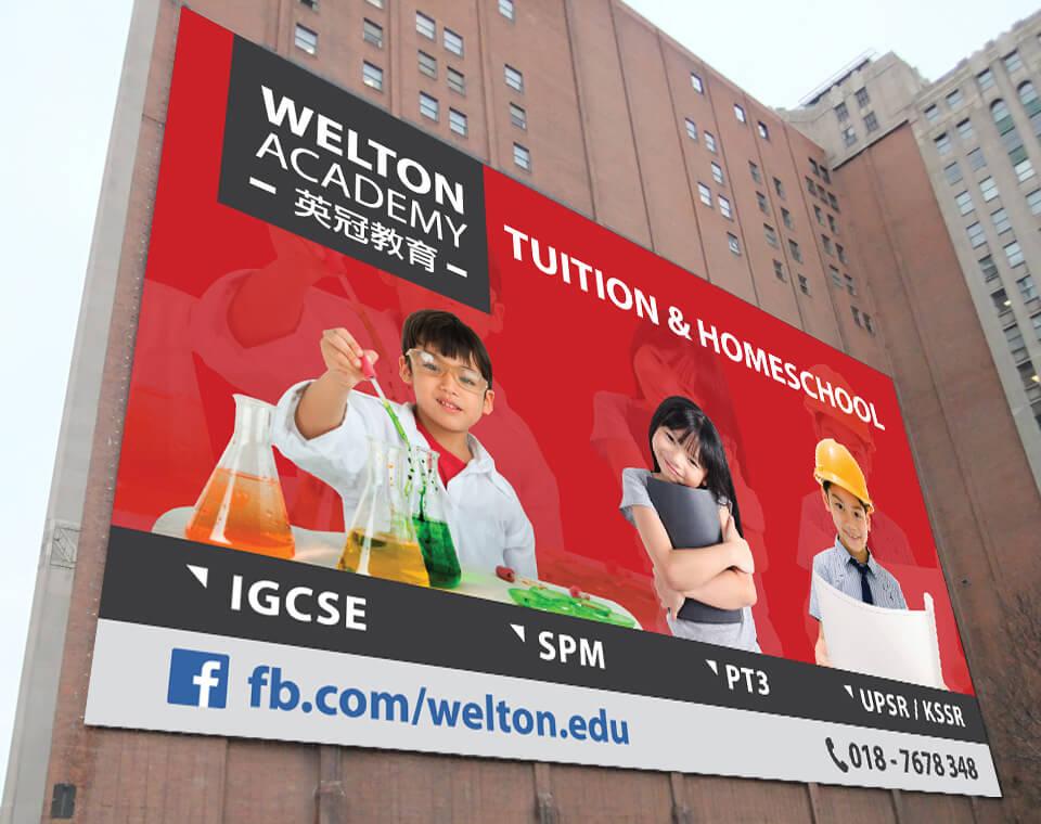 banner welton academy billboard design