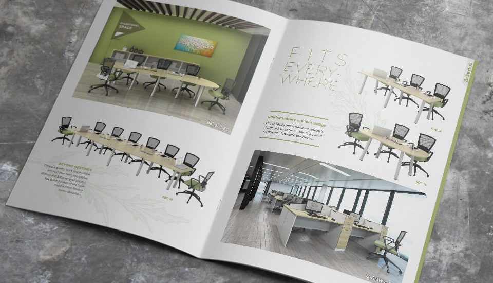 office furniture catalog design