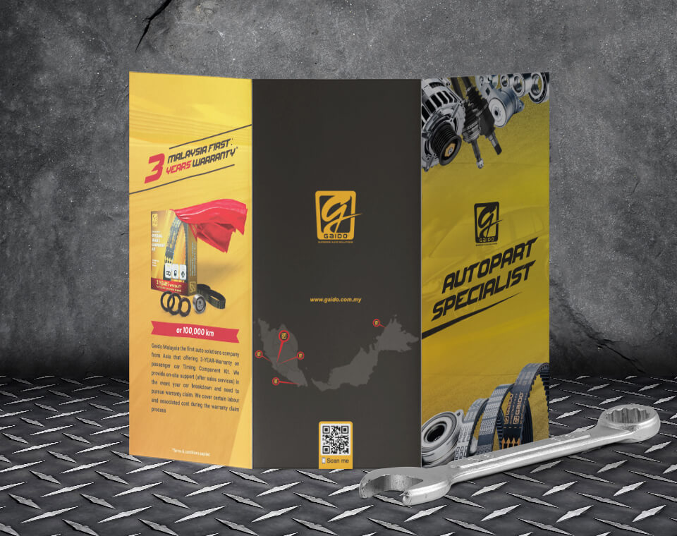 automotive brochure design for Gaido Malaysia