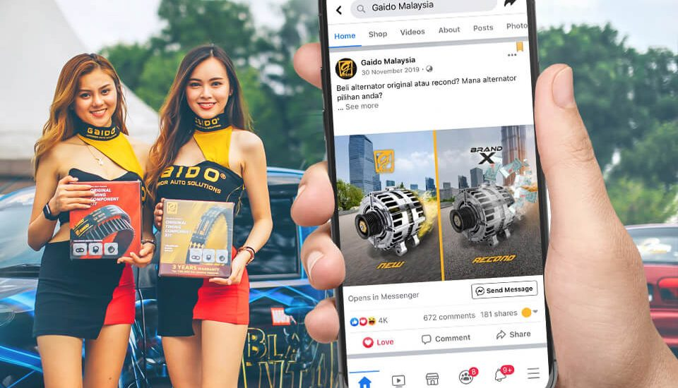 facebook post design and facebook marketing for gaido malaysia