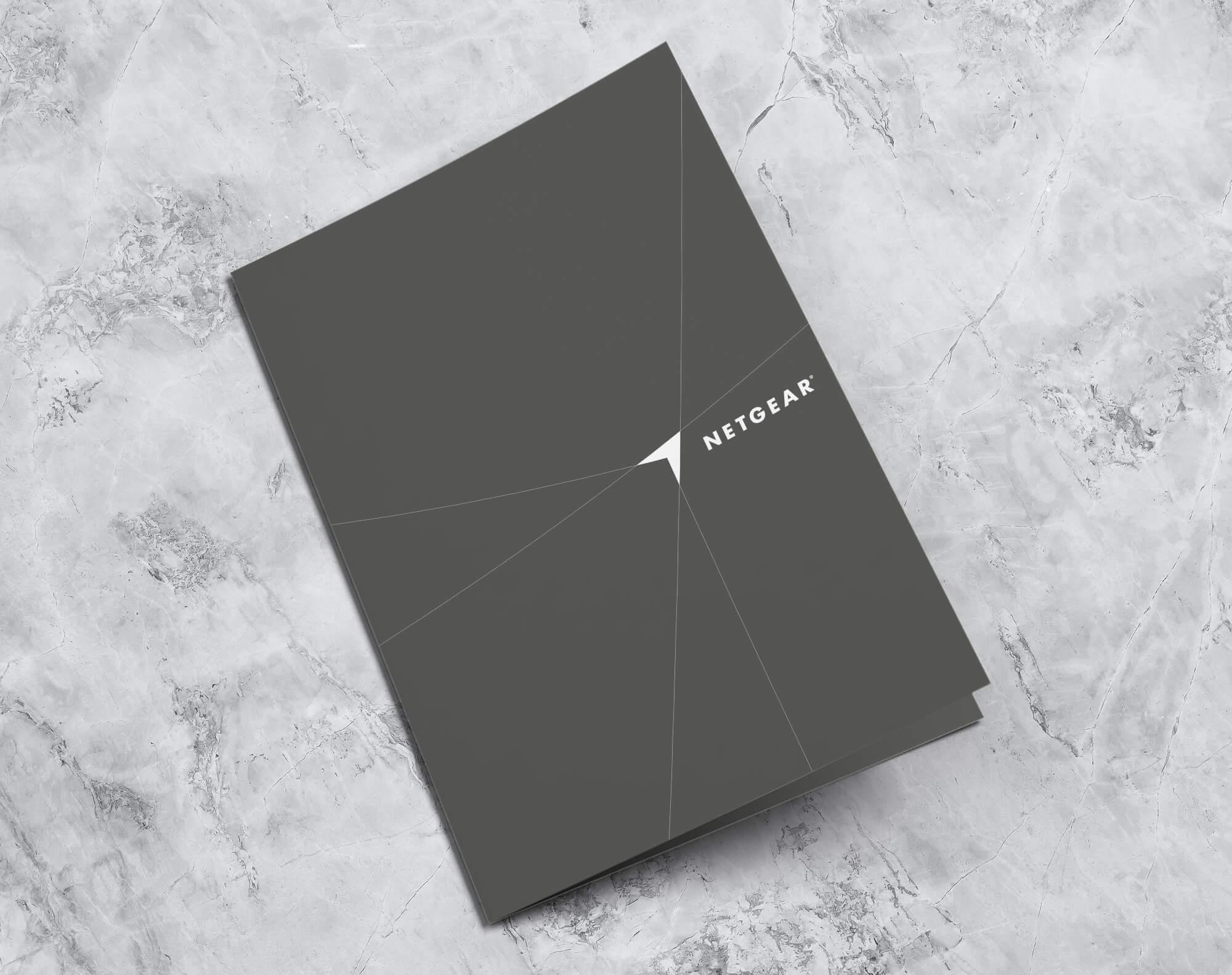 corporate folder design for netgear